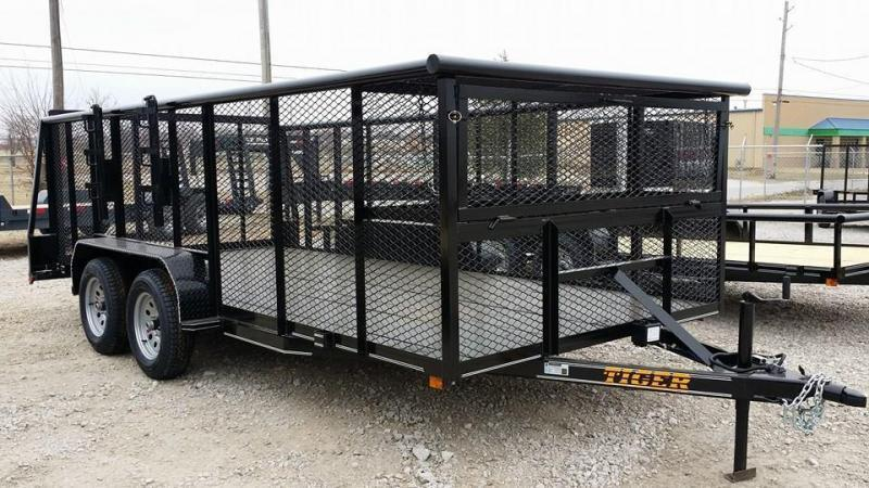 Landscape Trailer 83 x 16 w/ HD TRACTOR Gate 5200# Axles