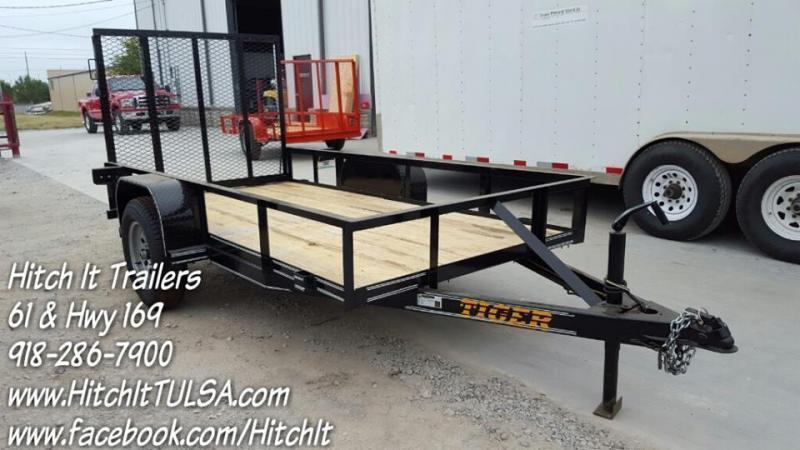5 x 10 Black Utility Trailer w ramp