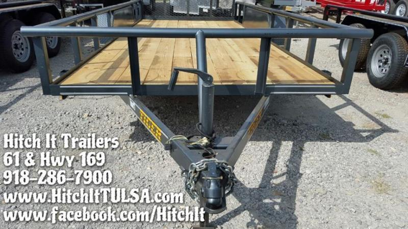 77x16 Pipetop Utility Trailer w/ SLIDE IN RAMPS