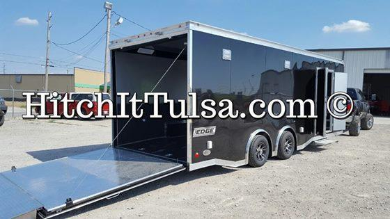 2016 8.5 x 24  Haulmark Edge Pro Car / Racing Trailer Black