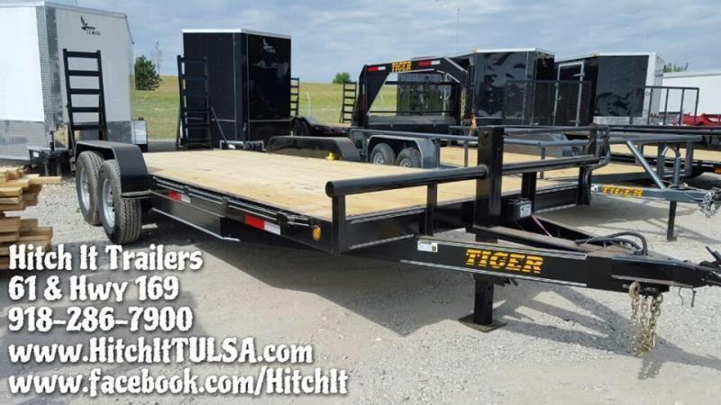 83 x 20 Heavy Duty Flatbed Trailer Tandem 7000#