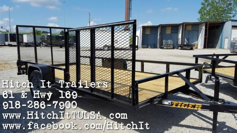77 x 14 ATV Utility Trailer w/ ATV SIDE GATE & Rear Ramp