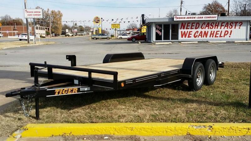 83 x 18 Flatbed Car Hauler Trailer