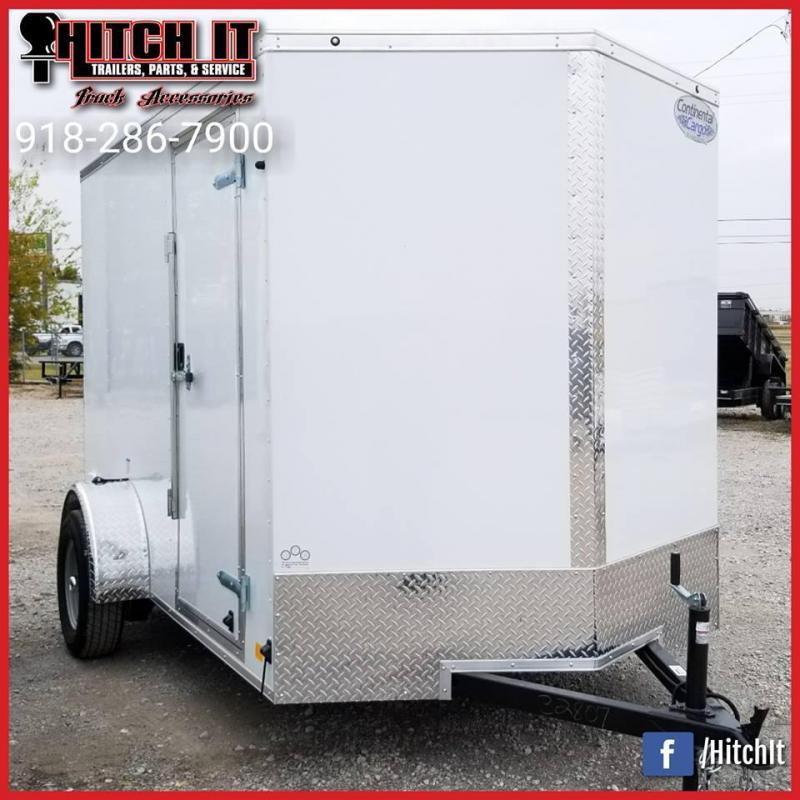 2018 Continental Cargo 6 X 10 + v-nose  Enclosed Cargo Trailer