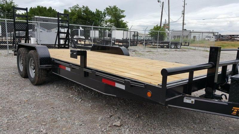 Wood Floor 83 x 20 Car Hauler Raised Floor Trailer