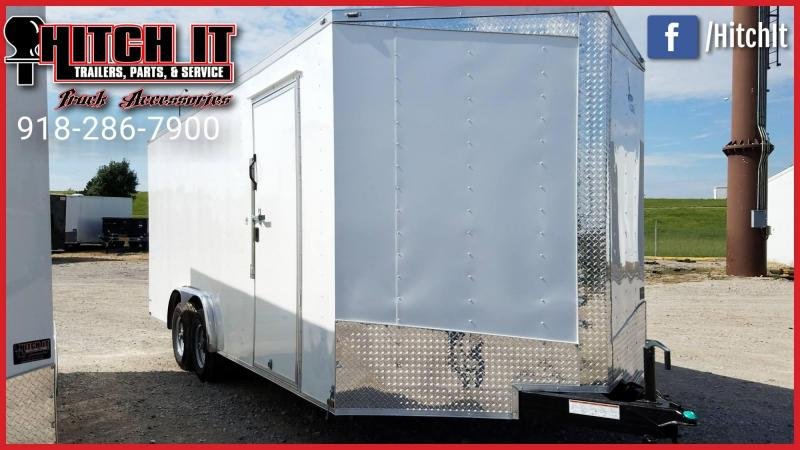 2018 Lark 8.5 x 20 Plus V-nose Enclosed Trailer w/ 5200# 7