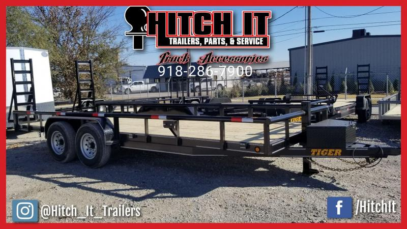 2018 Tiger 83 X 20 HEAVY DUTY PIPE TOP BUMPER PULL TRAILER Equipment Trailer