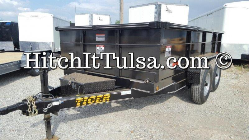 83 x 12 DUMP TRAILER bumper pull slide out ramps 7000 lb axles