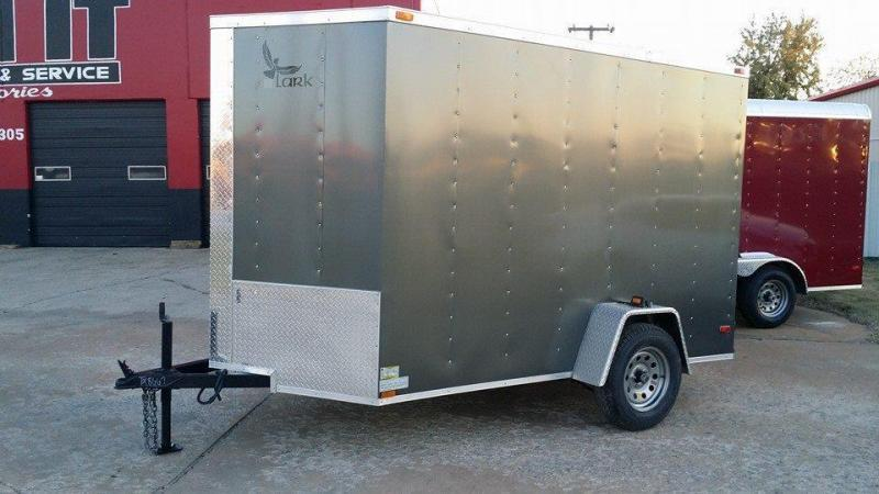 6x10 V-nose Charcoal Cargo Enclosed Trailer