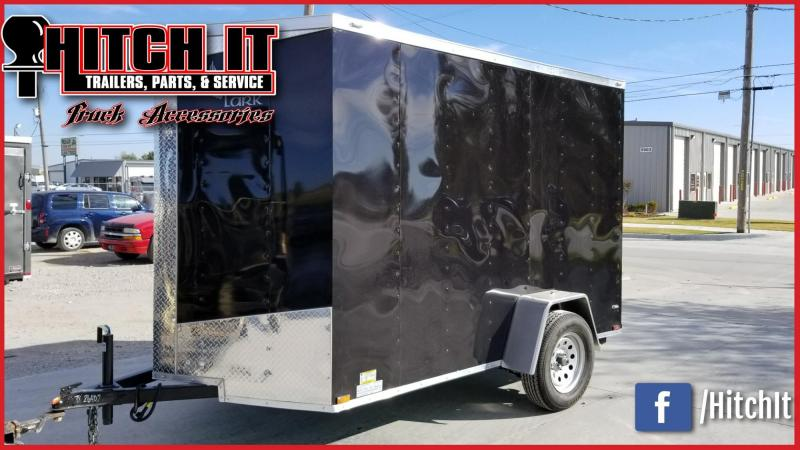 NEW Lark 6x10 V-nose BLACK Cargo Enclosed Trailer