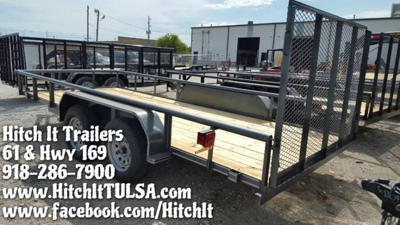 Charcoal 77x16 Pipetop Utility Trailer w/ Rampgate
