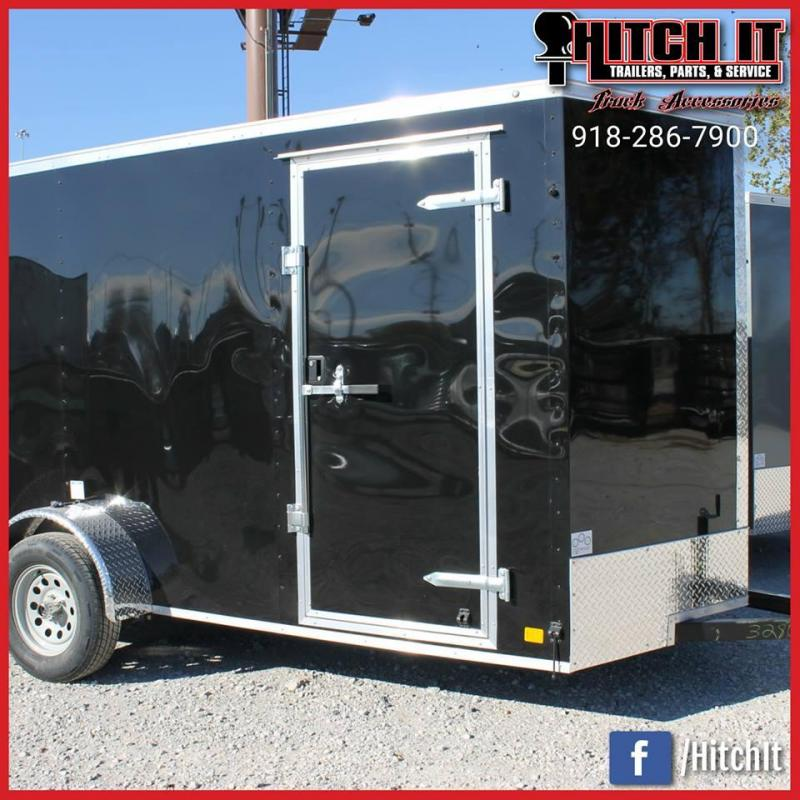 2018 Continental Cargo 6 X 12 + v-nose  Enclosed Cargo Trailer