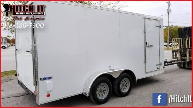 2018 Continental Cargo 7 x 14 + v-nose  Enclosed Cargo Trailer