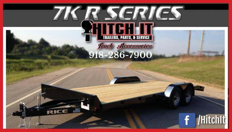 Rice 82 x 18 Equipment Trailer 7K Magnum Car Hauler