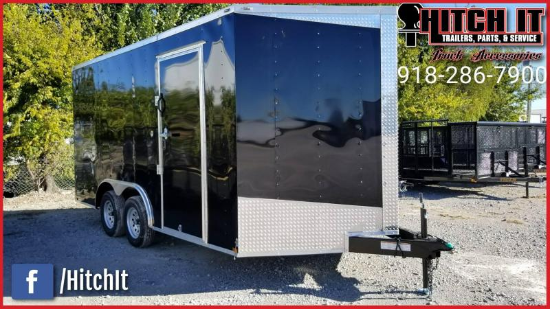 2018 Lark 8.5 x 16 + V-nose Enclosed Cargo Trailer V-Nose