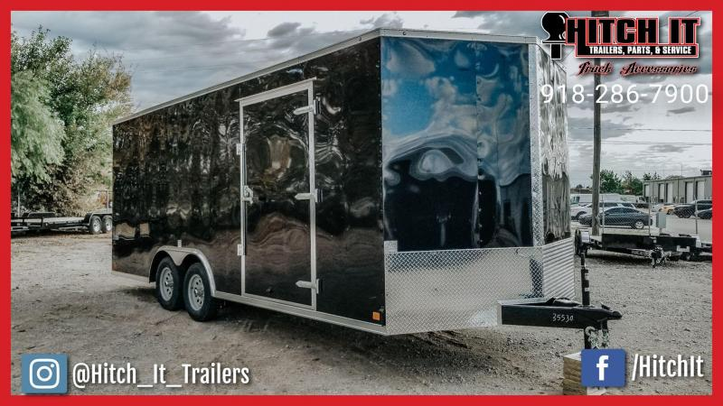 2019 Continental Cargo 8.5 x 20 + V-nose Enclosed Cargo Car Hauler / Racing Trailer