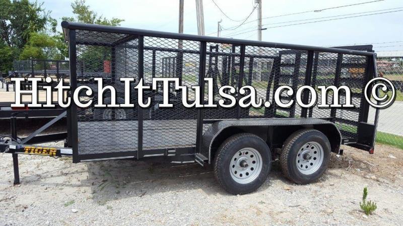 Mowing 77 x 12 Landscape Trailer w/ HD TRACTOR Gate