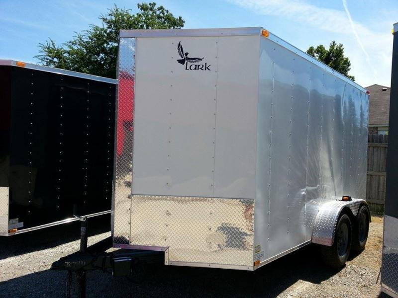 2017 Lark 7x12 Enclosed Cargo Trailer V-Nose