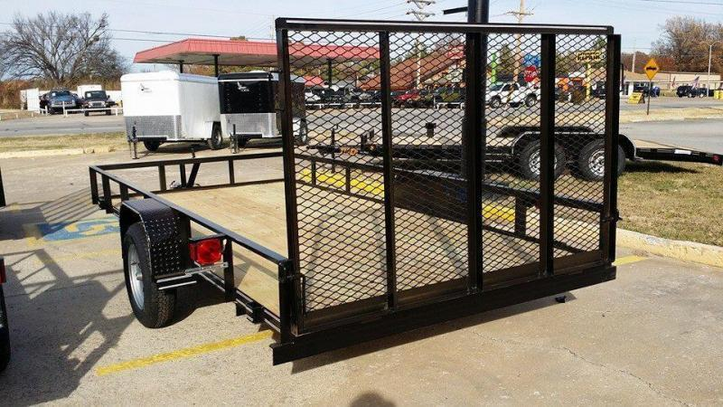 New 77 X 10 Utility Trailer w/ Rear Ramp Gate BLACK