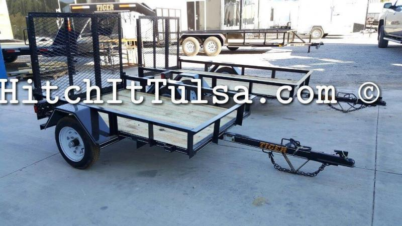 4 x 6 Lil Cub Utility Trailer with rear ramp 2000 lb. axle Treated Wood Floor
