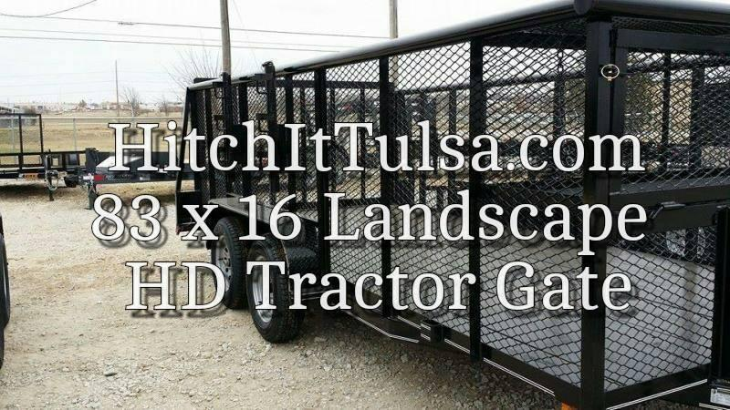 2017 Tiger 83 x 16 Landscape Trailer w/ HD TRACTOR Gate