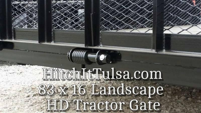 2017 Tiger 83 x 16 Landscape Trailer w/ HD TRACTOR Gate