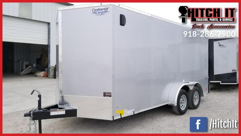 2018 Continental Cargo 7 x 16 + v-nose  Enclosed Cargo Trailer