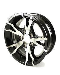 Custom Trailer Wheels Rims 5 x 4.5 Black Machined Aluminum