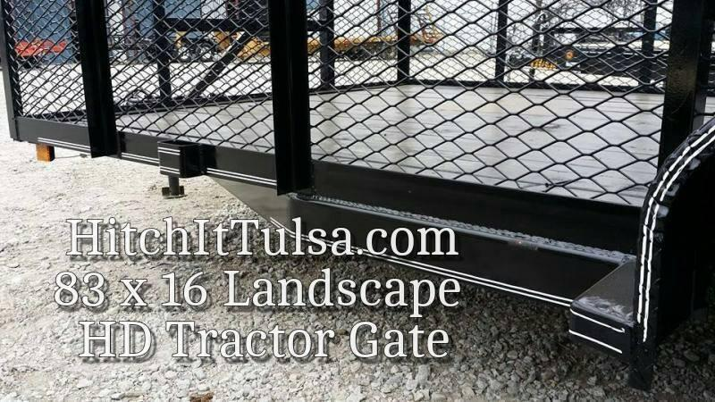 Mowing 77 x 12 Landscape Trailer w/ HD TRACTOR Gate