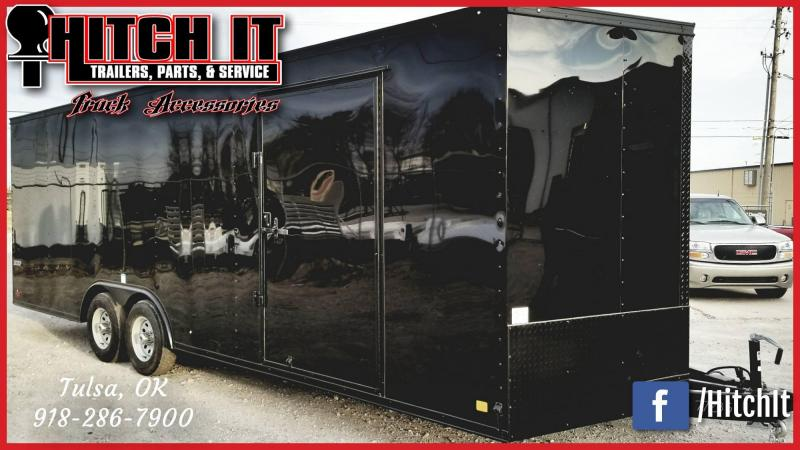 Continental Cargo 8.5X24 Enclosed Cargo Trailer MIDNIGHT BLACK OUT EDITION _CUSTOM WHEELS