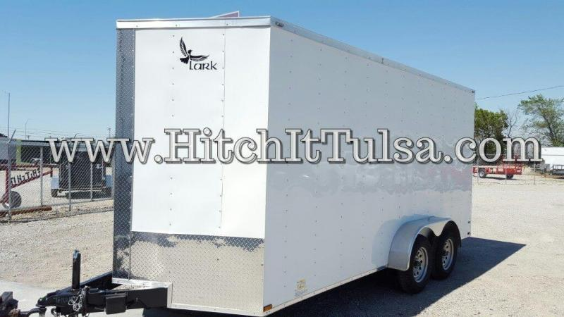 Lark 7x16 plus V-nose Enclosed Cargo Trailer 5200# Axles