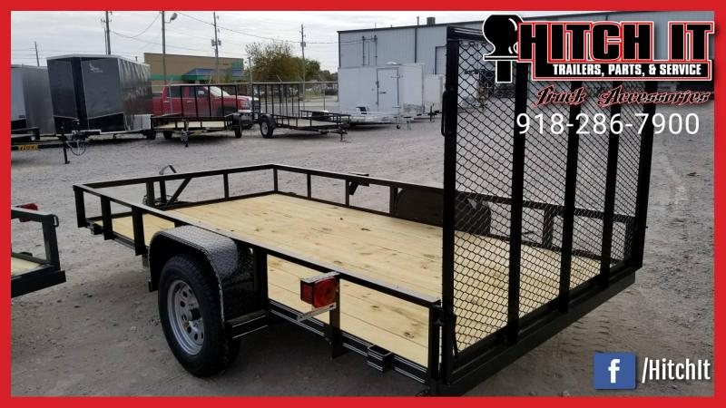 CHARCOAL New 77X10 Utility Trailer w/ Gate