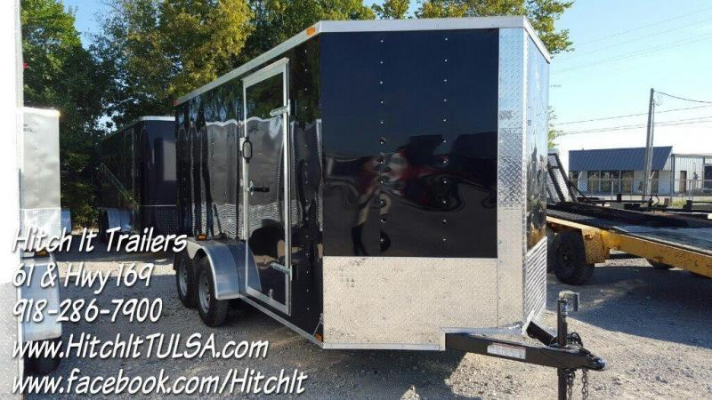 2018 Lark 7x14 V-nose Ramp Cargo / Enclosed Trailer
