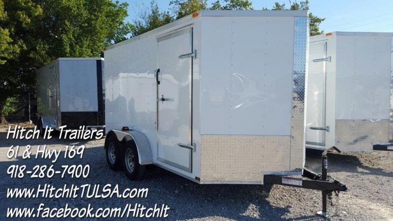 7x12 V-nose Cargo Enclosed Trailer 6'6