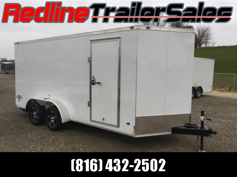 2018 Stealth Mustang 7x16 Enclosed Cargo Trailer 6'6'' inside height