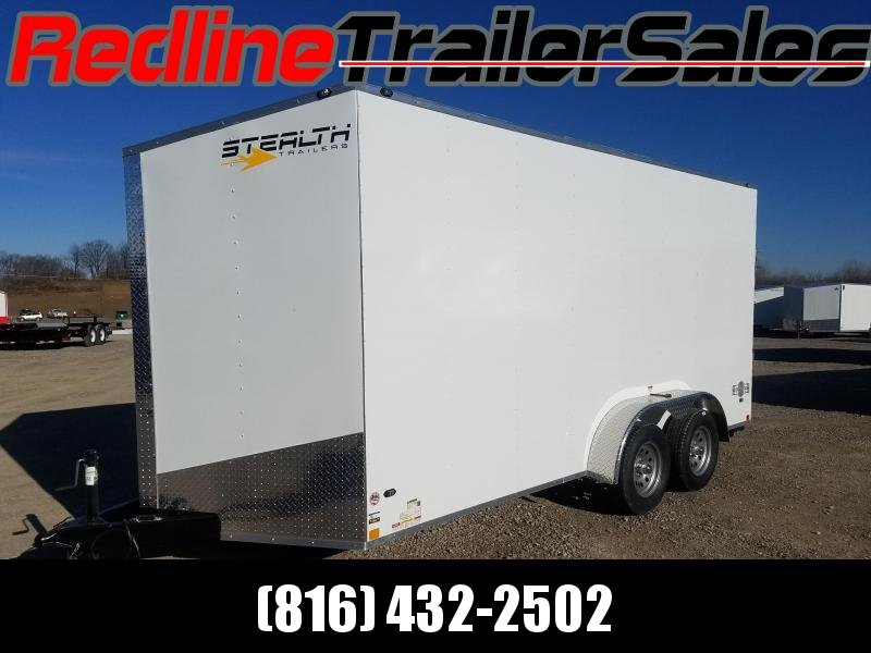 2018 Stealth Mustang 7x16 Enclosed Cargo Trailer **7' Interior Height**