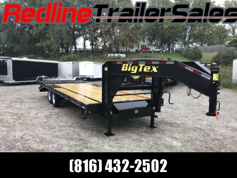 "2018 Big Tex 14GN 102"" X 20' + 5' Flatbed Trailer * 15900K GVWR * - YEAR END CLEARANCE"