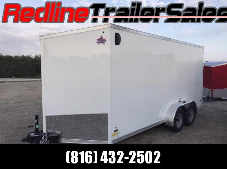 """2018 US Cargo 7X16 Enclosed Cargo Trailer * 6'6"""" Interior Height *"""