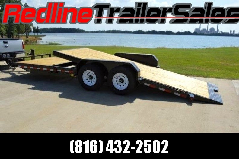 2017 Big Tex 16+6 Stationary tilt Equipment Trailer *14k GVWR*