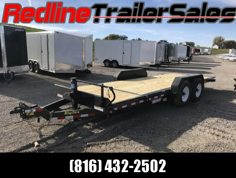 Big Tex 16'+4' Heavy Duty Tilt Bed Equipment Trailer 14000 GVWR