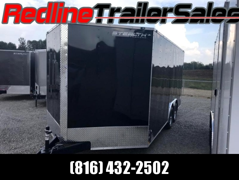 2018 Stealth Mustang 8.5 X 16 Enclosed Cargo Trailer