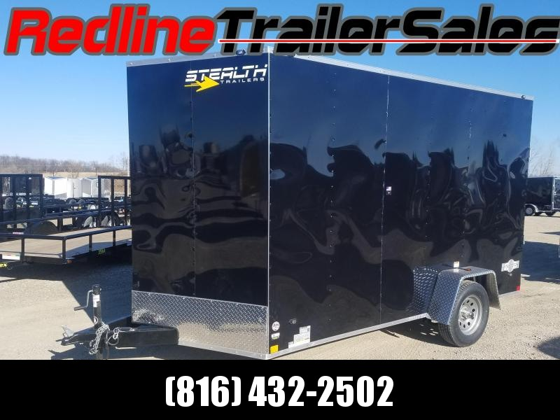 2018 Stealth Mustang 7x12 Enclosed Cargo Trailer **7' Interior Height**