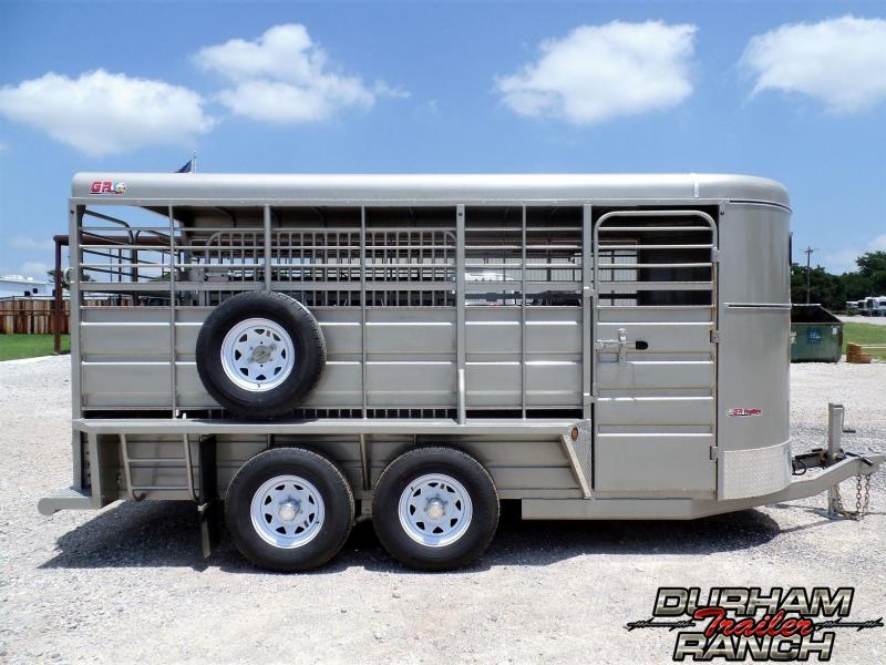 2019 GR 16 ft BP w/ Full Metal Roof Livestock Trailer