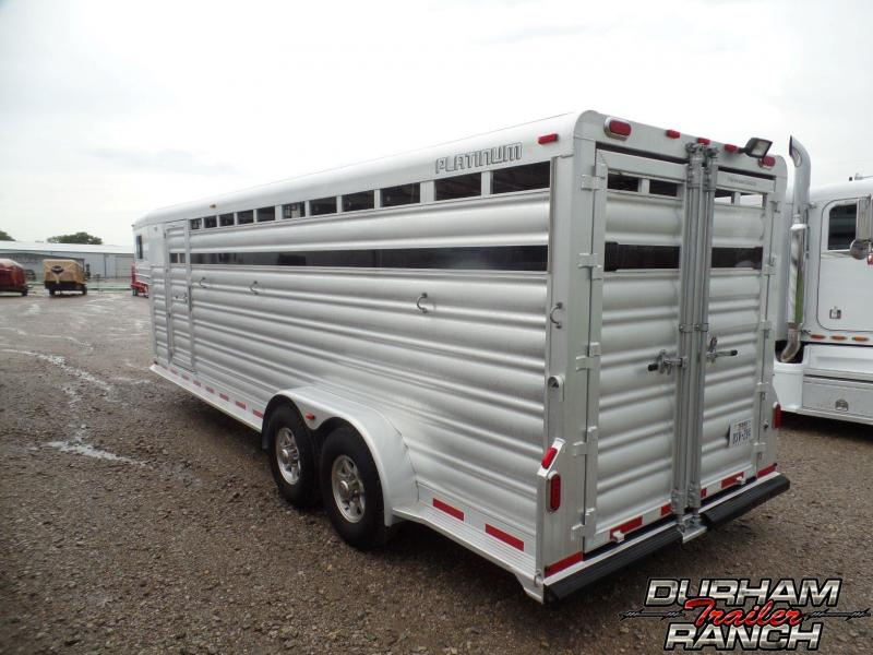 2016 Platinum Coach 24' Stock Combo Livestock Trailer