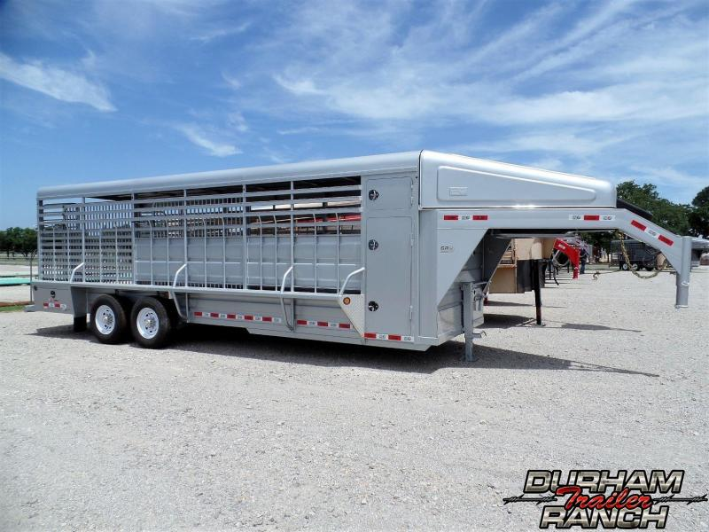 2019 GR Trailers 24 ft Gooseneck Stock Livestock Trailer