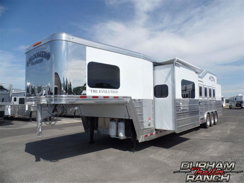 "2020 Bloomer 4H PC Load w/ 16'6"" Short Wall & 6' Hyd. Slide Horse Trailer"