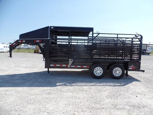 2019 GR 16ft Half Top Gooseneck Stock Trailer Livestock Trailer