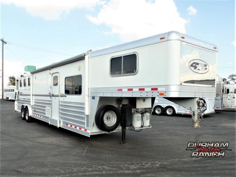 2008 4-Star 4 Horse GN w/ 14' Short Wall LQ Horse Trailer