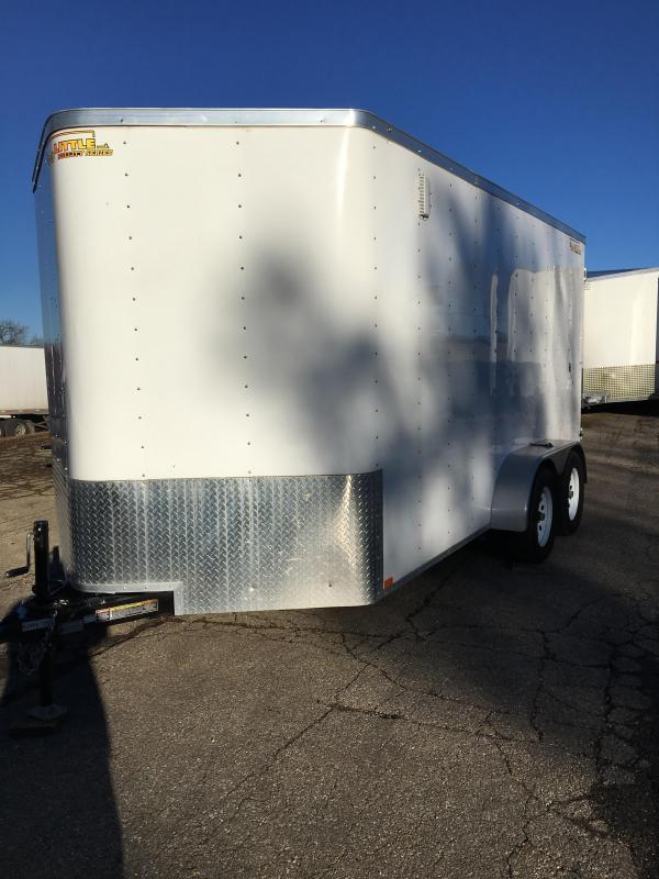 2017 Doolittle Trailer Mfg 7x14 with Double Doors and Side door Enclosed Cargo Trailer