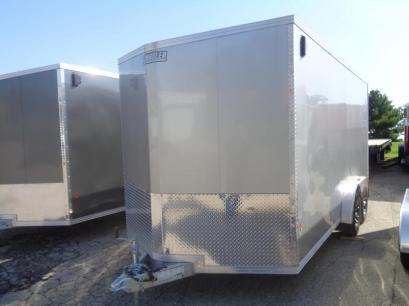 2018 Mission EZ Hauler 7.5x16 UTV Cargo Trailer with Ramp Door Enclosed Cargo Trailer